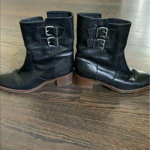 JCrew Cap-Toe Ankle Boots